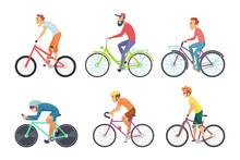 Set Of Bicycle Sportsmen. Cart...