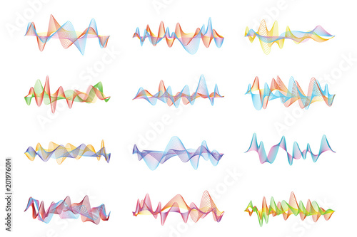 Photo  Abstract sound waves