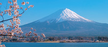 Mount Fuji With Snow Capped, B...