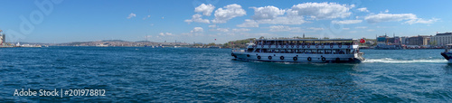 Fototapeta Cloudy day and Bosphorus