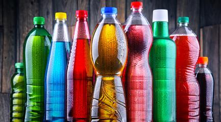 Plastic bottles of assorted...