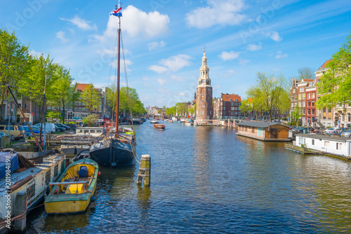 Photo  Canal in the city of Amsterdam