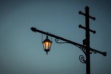 Vintage Street Lantern Against...