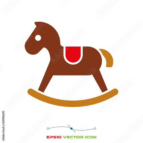 rocking horse color icon Canvas-taulu