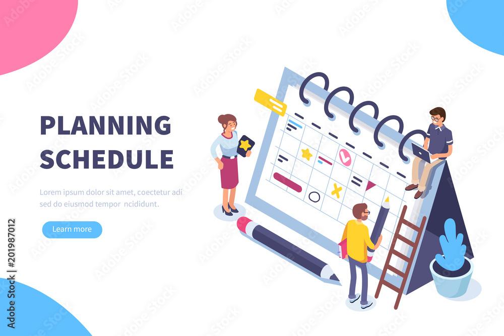 Fototapeta planning schedule