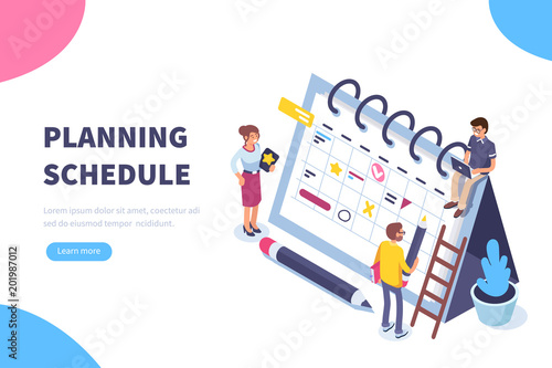 Fotografía planning schedule