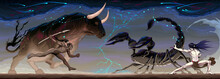 Zodiacal Battle Between Taurus...