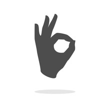 Ok Hand Sign. Ok Icon Vector.