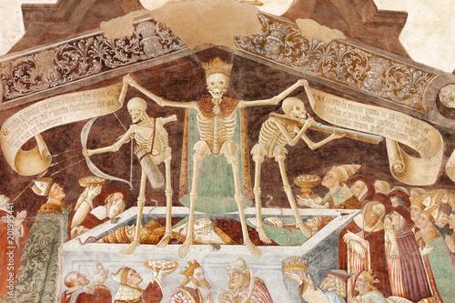 Clusone, Fresco, Dance of the Death Canvas Print