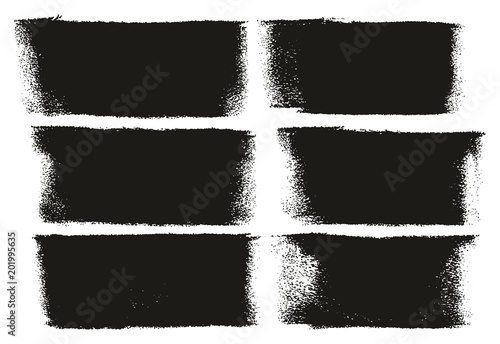 Fotografie, Obraz  Paint Roller Bold Lines High Detail Abstract Vector Lines & Background Set 57