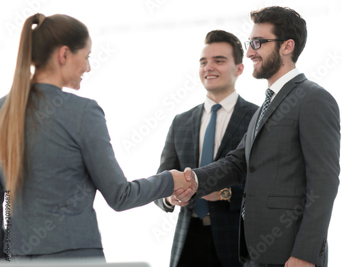 Business Concept Handshake Financial Partners