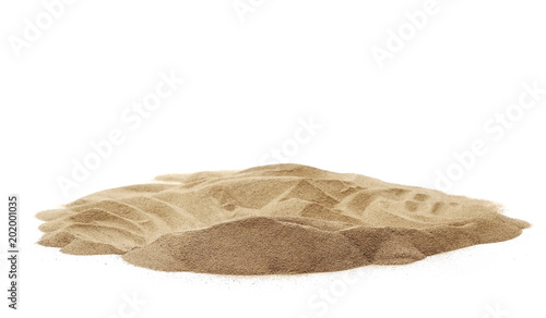 Photo  Pile desert sand dune isolated on white background