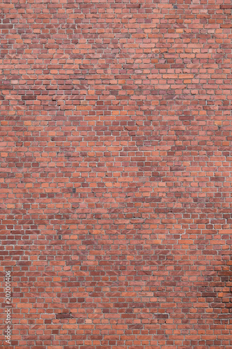 Photo  Big full frame background of detailed old red brick wall with copy space