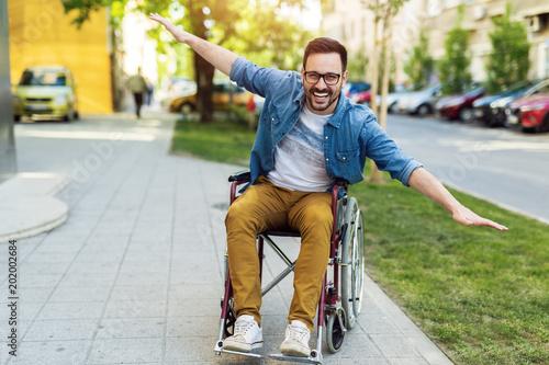 Fotografía  Man in a wheelchair