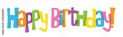 "Tela ""HAPPY BIRTHDAY"" Vector Letters Banner"