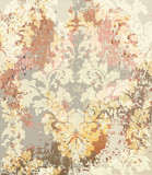 Baroque pattern Vector. Vintage Ornamented texture luxury design. Royal textile decors. Old painted background - 202005871