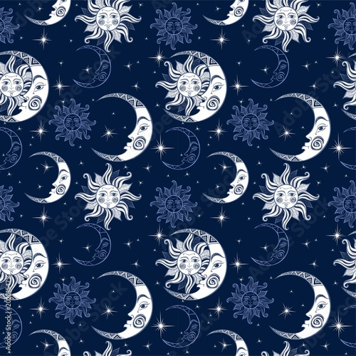 bezszwowy-wzor-slonce-ksiezyc-i-gwiazdy-tlo-kosmiczne-nocne-niebo-magiczne-tlo-bajki-wektor