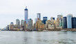 New York City, Skyline view from hudson, cloudy day