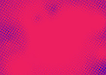 Halftone Comic Style Pop Art Dots Over Pink Background