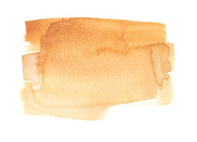 Light Golden Brown Gradient Painted In Watercolor On Clean White Background
