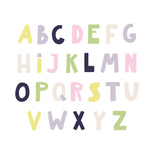 Hand Drawn Latin Alphabet In S...