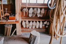Workshop Of Wooden Clogs