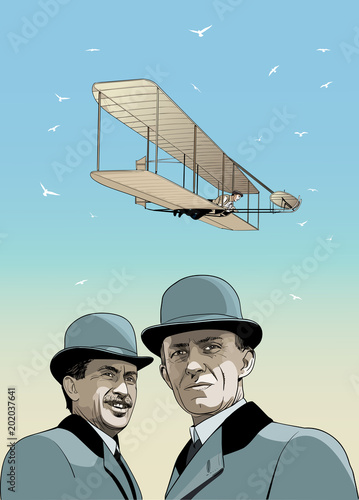 Wright brothers Tablou Canvas