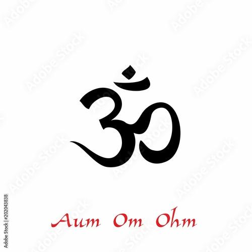 Aum Om Ohm Symbol A Spiritual Sign Esotericist Vector