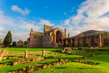Ruins Of Melrose Abbey In The ...