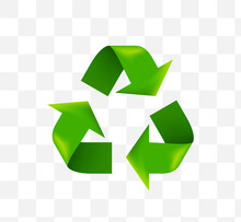 Cute Recycling Symbol Icon On ...