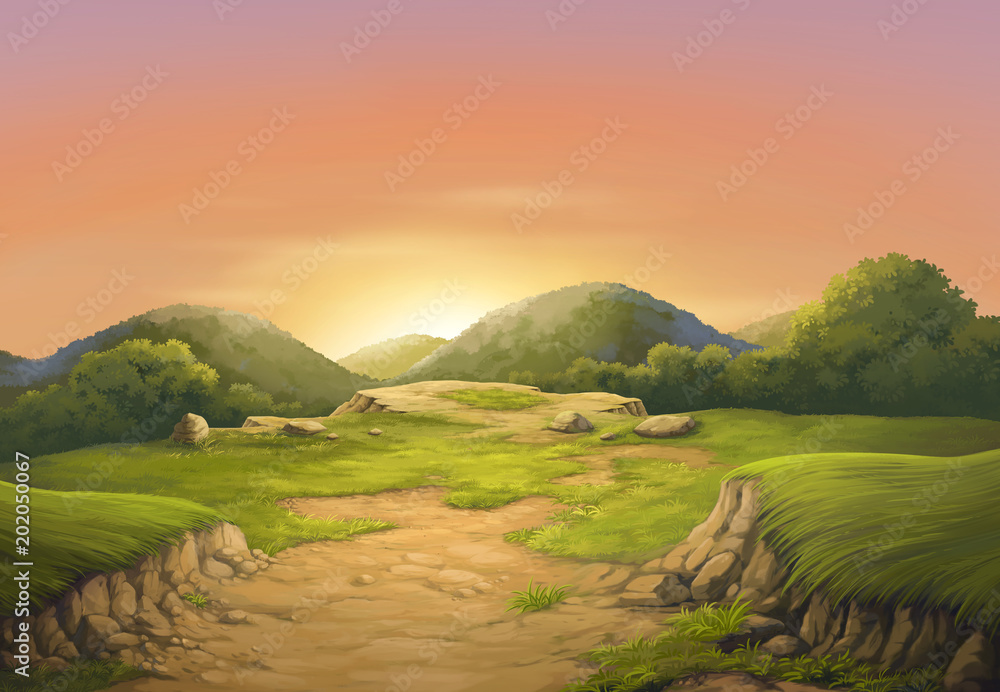 Sunset on the beautiful cliffs.