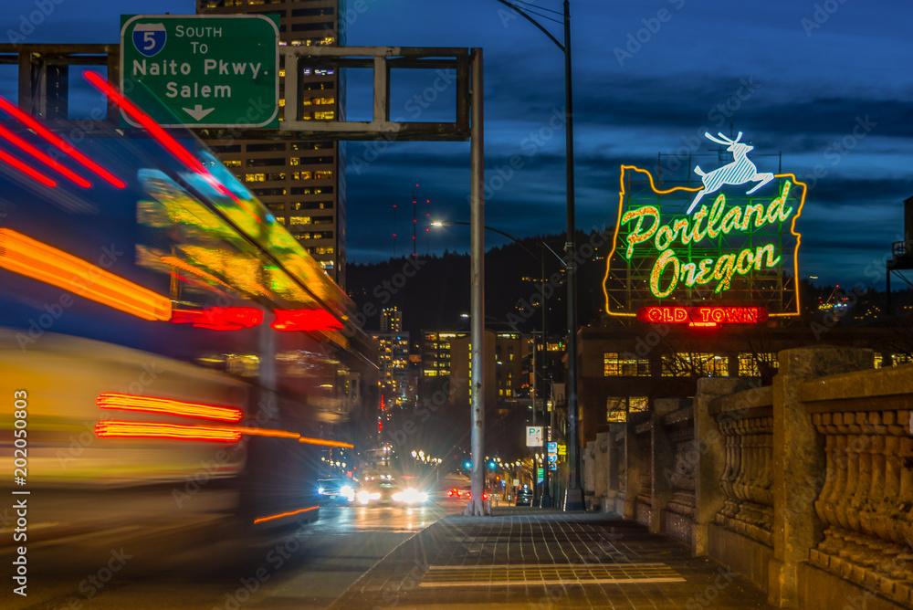 Fototapety, obrazy: Portland night lights