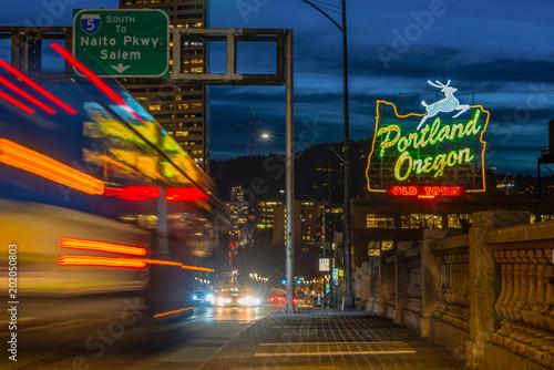 Fototapeta Portland night lights obraz