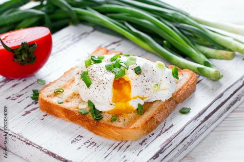 Fotografie, Obraz  Poached egg on toast