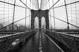 Fototapeta New York - Brooklyn bridge of New York City