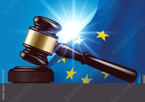 Fotografie, Obraz justice - tribunal - maillet - marteau - juge -européenne - Europe - européen -