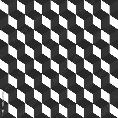 Fototapety, obrazy: Seamless blockchain technology pattern.Vector busines pattern with blocks.