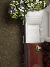 Top View Of Empty Open Coffin ...