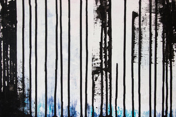 abstract black acrylic painting on canvas