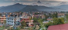Pokhara Nepal With Machapuchar...