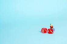 A Man Is Sitting On Dice And T...