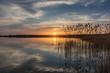 canvas print picture - Sonnenuntergang am Rangsdorfer See