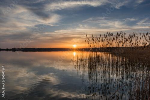 Photo  Sonnenuntergang am Rangsdorfer See