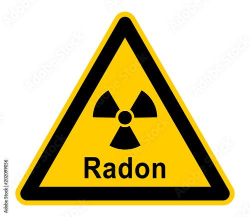 wso328 WarnSchildOrange - german: Radonstrahlung - Gefahr / Radongas in Häusern Tapéta, Fotótapéta