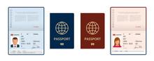 Vector Blank Open Passport Tem...