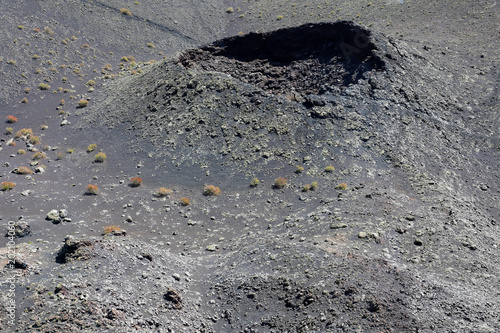 Volcanic crater in Fire mountains inside Timanfaya National Park, Lanzarote, Can Wallpaper Mural