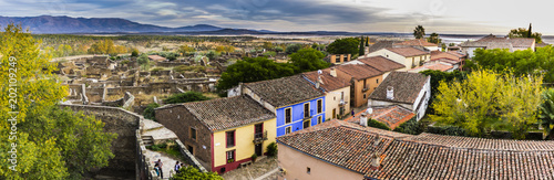 Streets of Granadilla and old an abandoned town an historical view to an ancient civilization