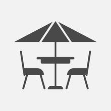 Terrace Cafe Vector Icon