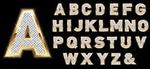 Golden Diamond Shiny Letters I...