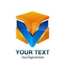 Initial Letter V Logo Template...